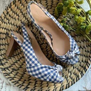 Kelly & Katie gingham plaid heels sz 9